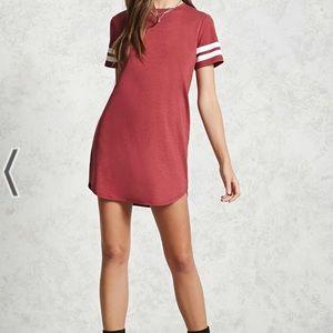 NWT Varsity Stripe T Shirt Dress